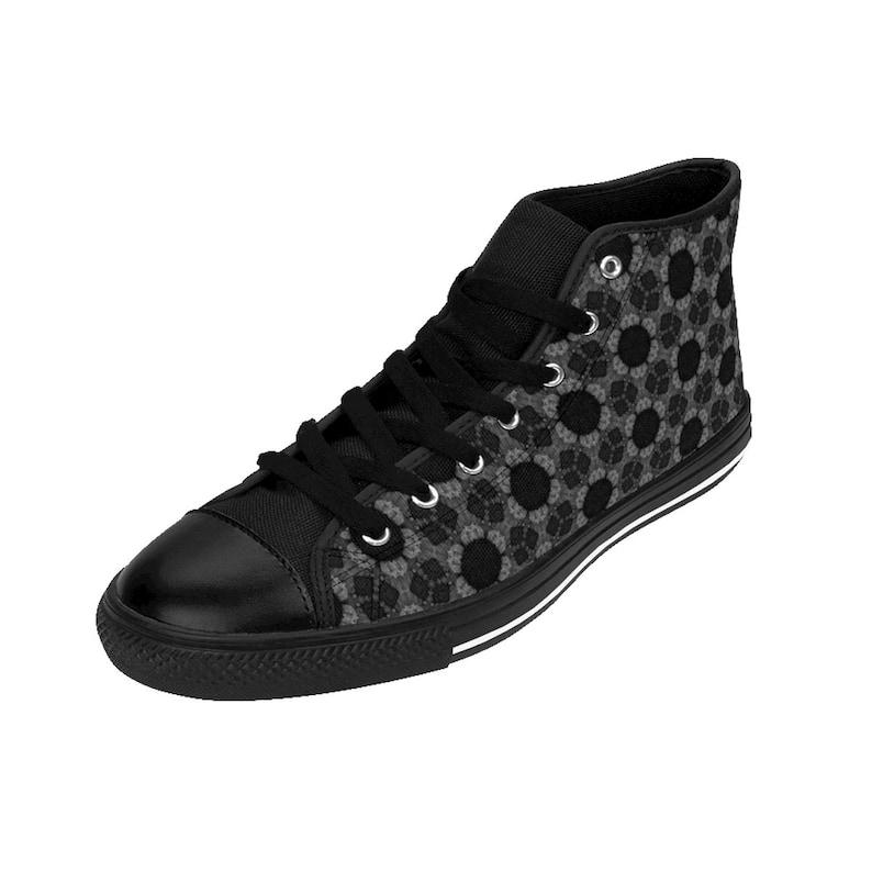 Women/'s High-top Sneakers Black Patterned