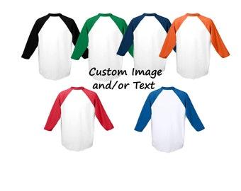 Custom Toddler Raglan Shirt/ Custom T-shirt / Customized Tee / Design Your Own Shirt / Custom Tees / Custom Raglan Shirt