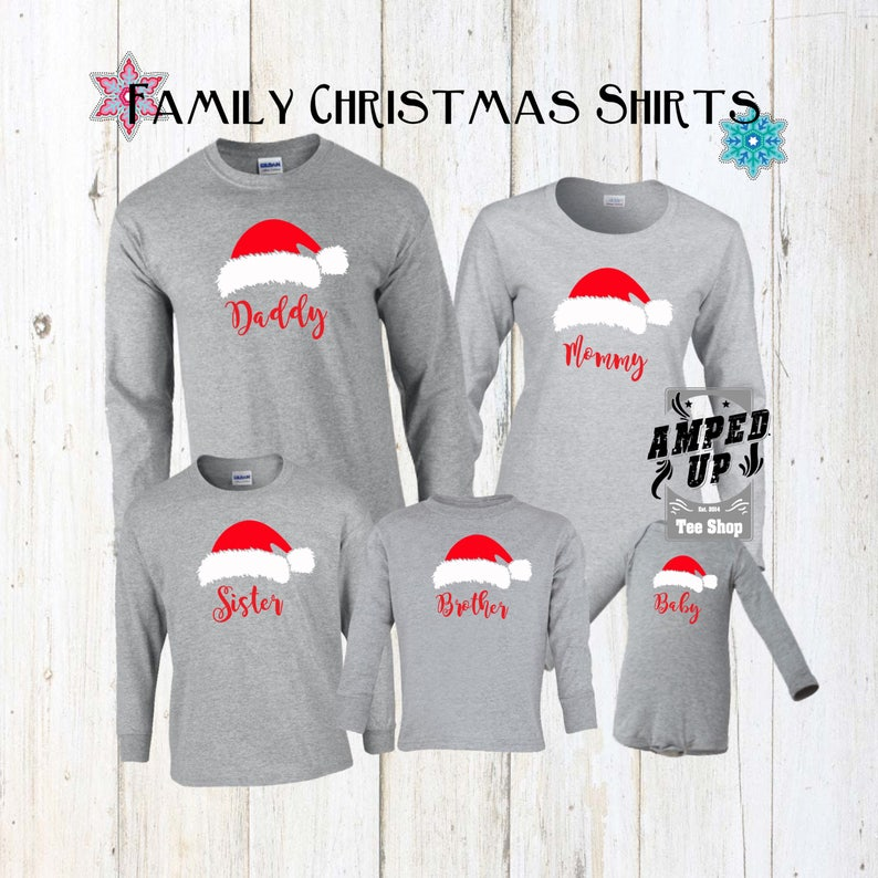 Family Christmas Shirts.Family Christmas Shirts Christmas Shirts Santa Hat Shirts Personalized Christmas Shirts Santa Shirts Matching Christmas Shirts