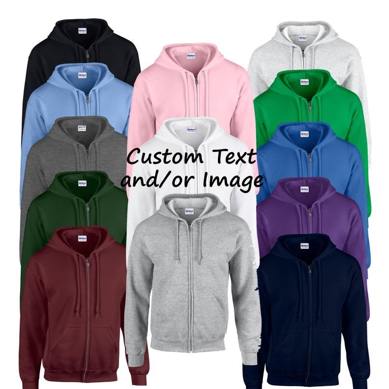 3ba1266b2 Custom Adult Unisex Heavy Weight Zip Up Hooded Sweatshirts   Etsy