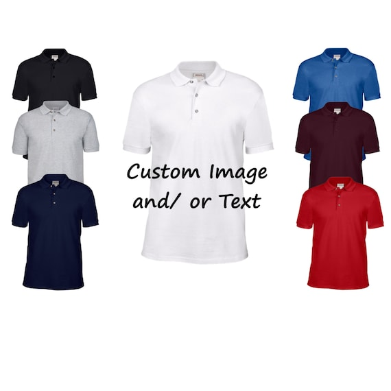 Custom Adult Polo Shirt Custom T Shirt Customized Golf Etsy