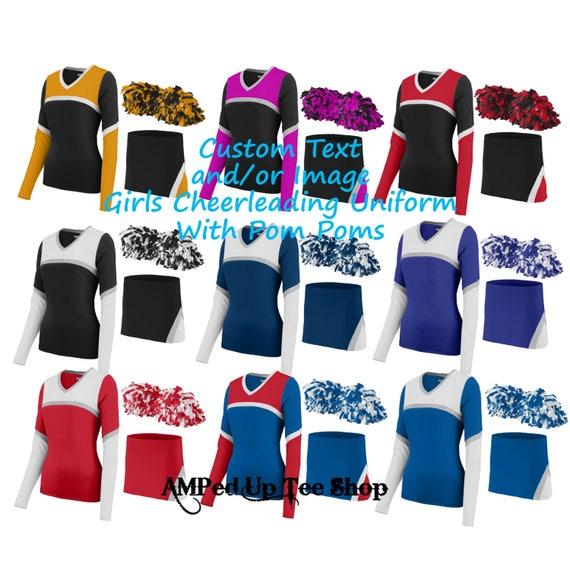 635a54a329 Custom Girls/Youth Cheerleader Uniform with Pom Pom | Etsy