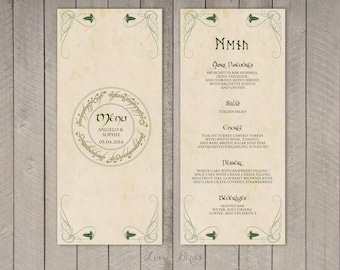 Lord Of The Rings Wedding Invitation Etsy