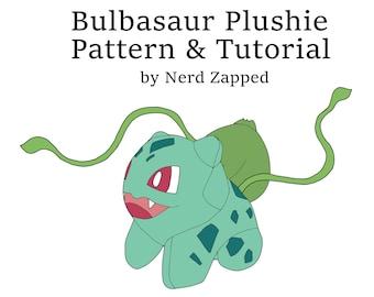 Bulbasaur Plush Sewing Pattern and Tutorial .PDF