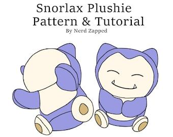 Snorlax Plush Sewing Pattern and Tutorial .PDF