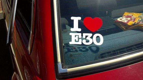 I Heart My E30 EURO Car Window Wall Vinyl Decal Sticker