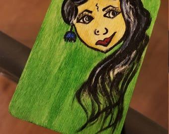 Indian Girl Bookmark