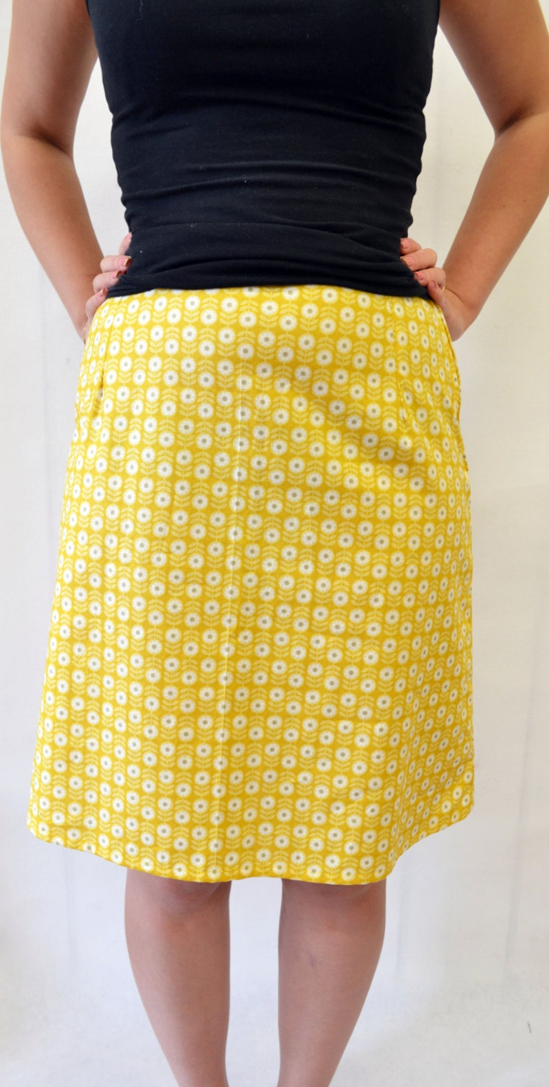 Simple A line skirt SEWING PATTERN
