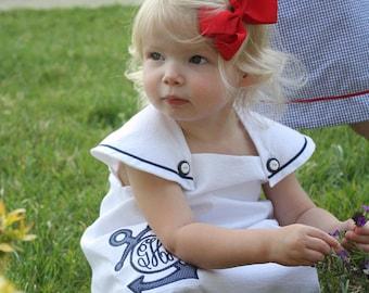 Girls Seersucker Sailor Dress