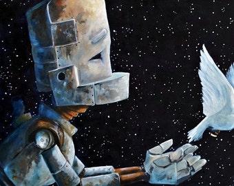 Messenger Robot Painting Print