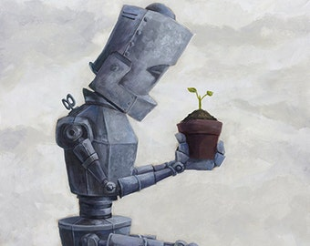 Sprout-Bot robot painting print