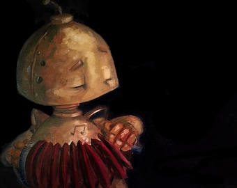Accordion-Bot Robot Painting Print