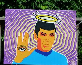 Star Trek Spock Hamza trekkie Hand of Fatima Vulcan 12x18
