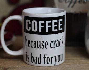 Coffee Because - Coffee Mug - Funny Coffee Cup - Coffee Lover Gift - Office Coffee Mug - Adulting Coffee Mug - Ceramic Coffee Mug Gift