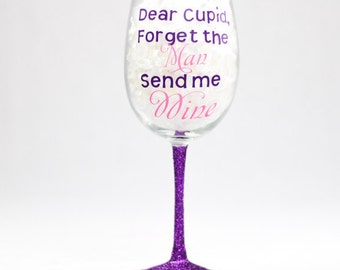 Dear Cupid Wine Glass
