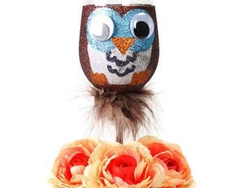 Custom Owl Glass