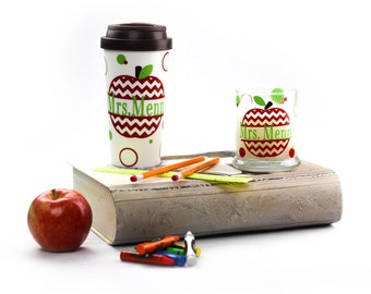 Custom Travel Mug and Candle Set