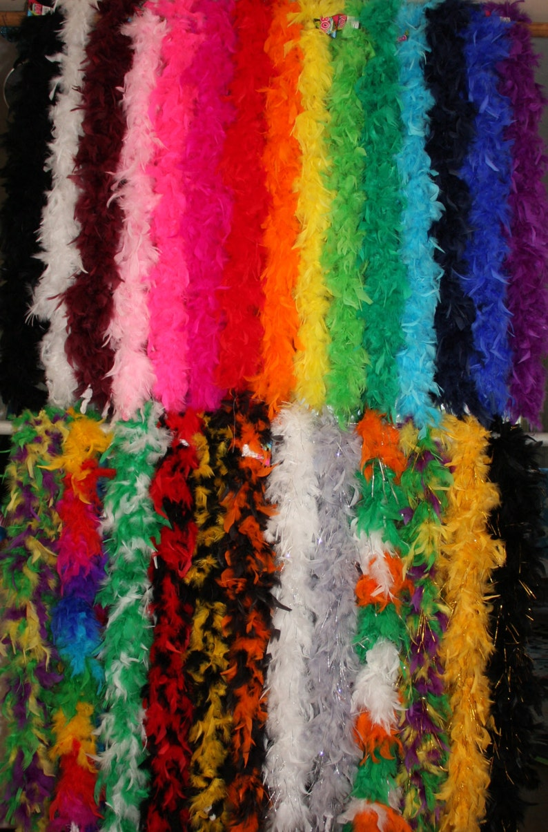 Parades Parties 6 FEET 60 GRAMS IRISH w//SILVER TINSEL Feather Boa Costume