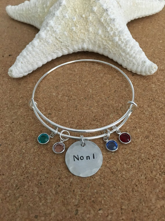 Cancer Awareness Charm On A 7 1//2 Inch Round Double Loop Bangle Bracelet