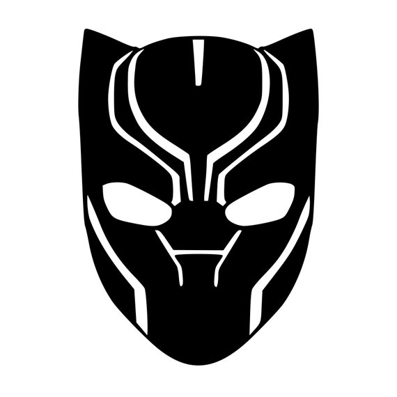 Black Panther Face Mask Vinyl Decal Any Color Any Size