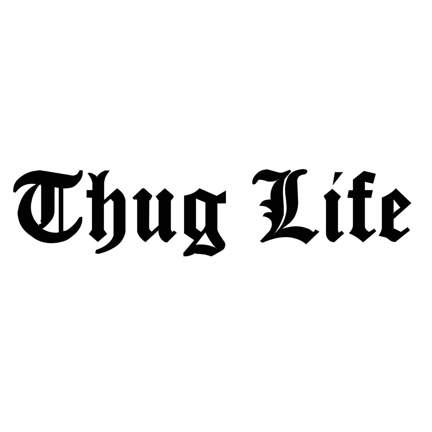 Thug life decal any color any size lowerd car decal jdm tuner internet funny stickers car stickers tuner decal custom