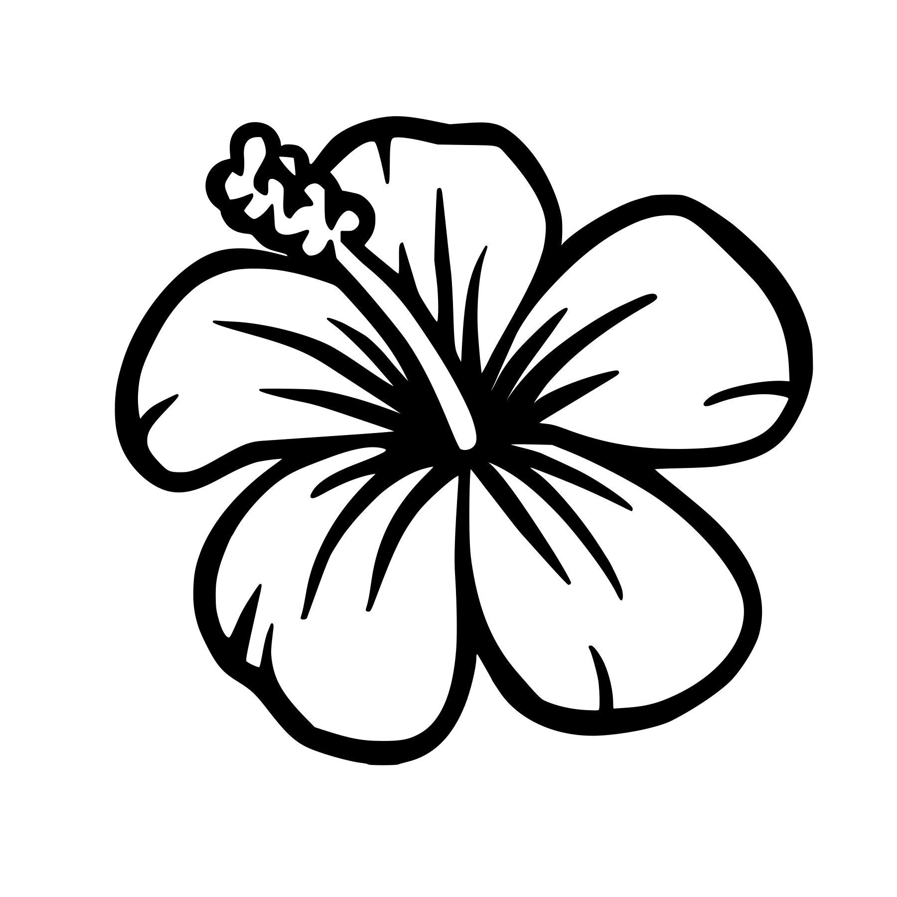 Ohana hibiscus flower vinyl decal any color any size etsy image 0 image 1 izmirmasajfo