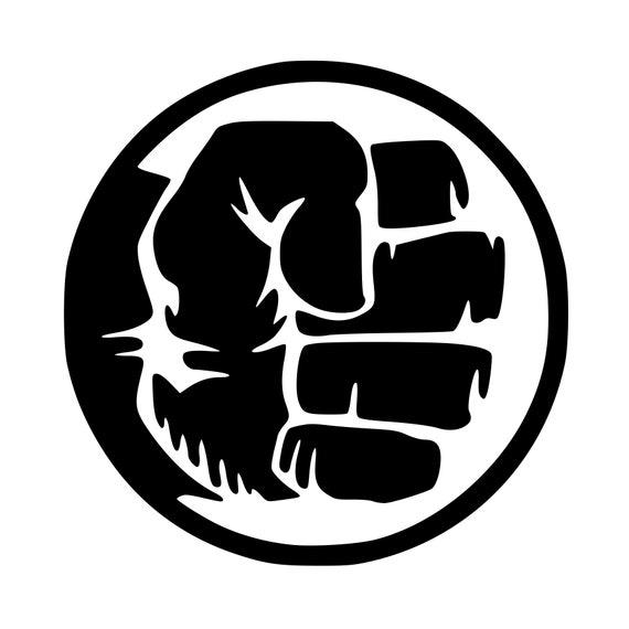 Hulk Fist Vinyl Decal Any Color Any Size The Hulk Etsy