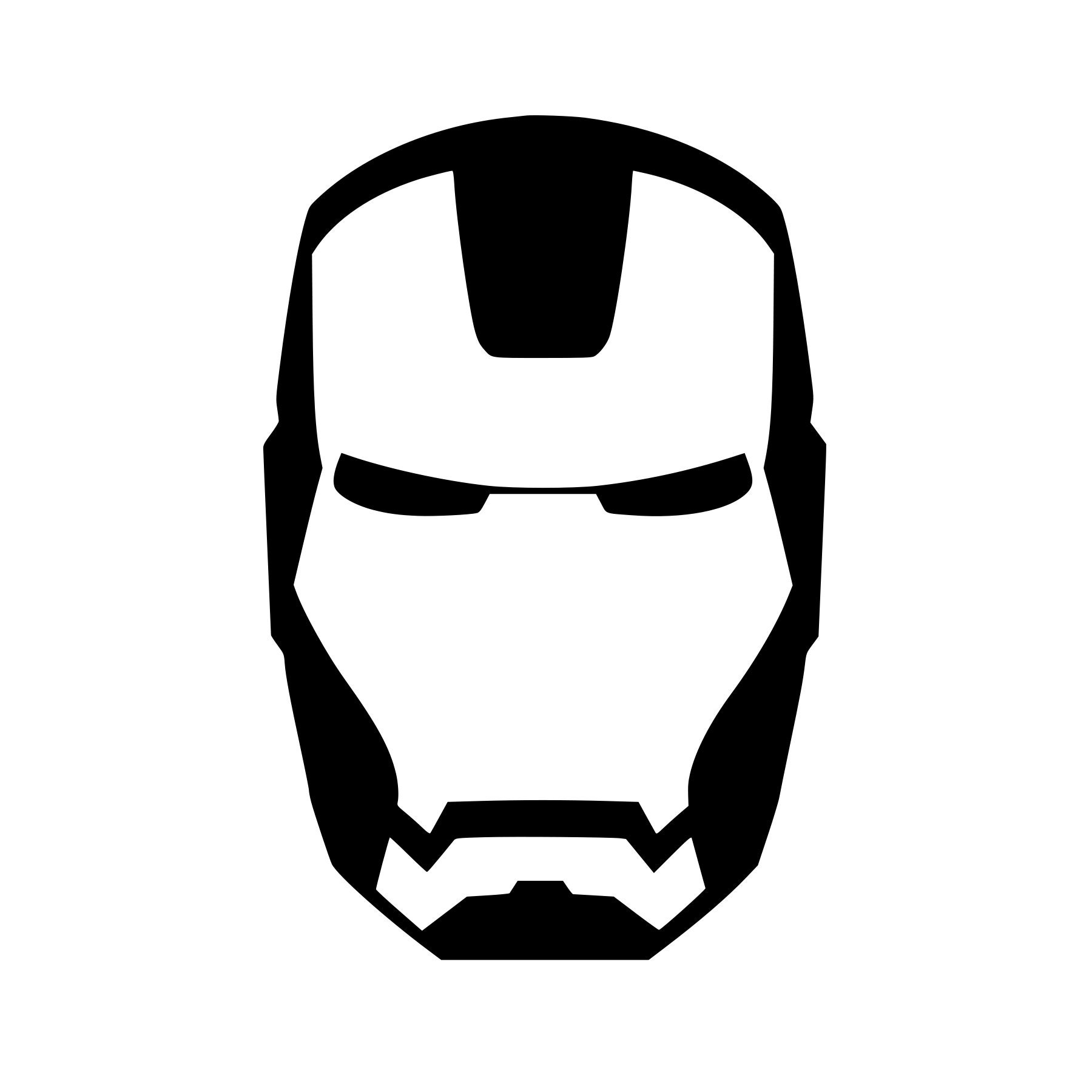 Ironman Face Mask Logo Vinyl Decal Any Color Size Etsy Luggage Tag Head 2 Movie Avengers Window Wall Sticker Laptop