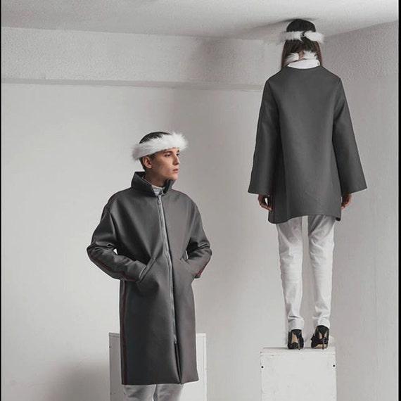 Simili Manteau Homme Cuir En Etsy Long rqOrw50