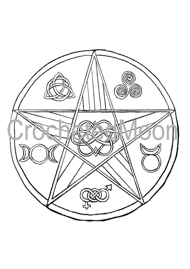 Mandala Sterrenbeelden Kleurplaten.Afdrukbare Lgbt Heidense Trots Kleurplaat Pagina Digitale Etsy