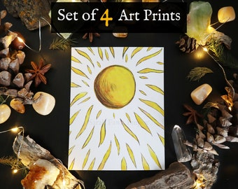 Post Card Art Prints   Set of 4
