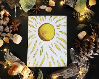 Sun   Post Card Art Print
