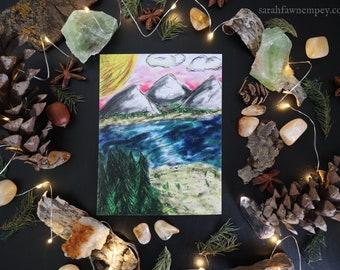 Mountain Oasis   Post Card Art Print