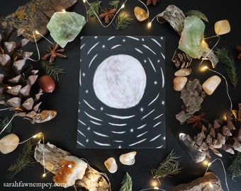 Moon   Post Card Art Print