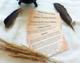 Mabon Printable Sheets   Autumn Equinox Printable Sheets  Print at Home   Witchcraft Printables