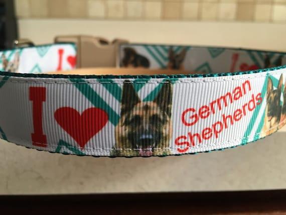 German Shepherd Breed 1 Large and Medium Dog Collar and  bb3970ea3