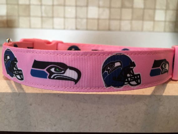 Girl Power Seahawks Large and Medium Dog Collar with optional  650a930cf