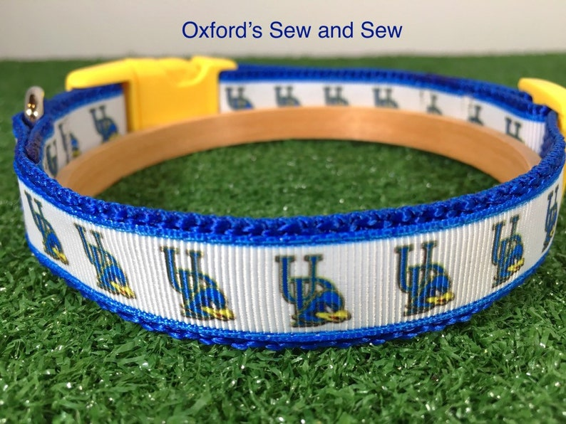 f68e6a14d80 University of Delaware College Blue Hens Football Dog Collar | Etsy