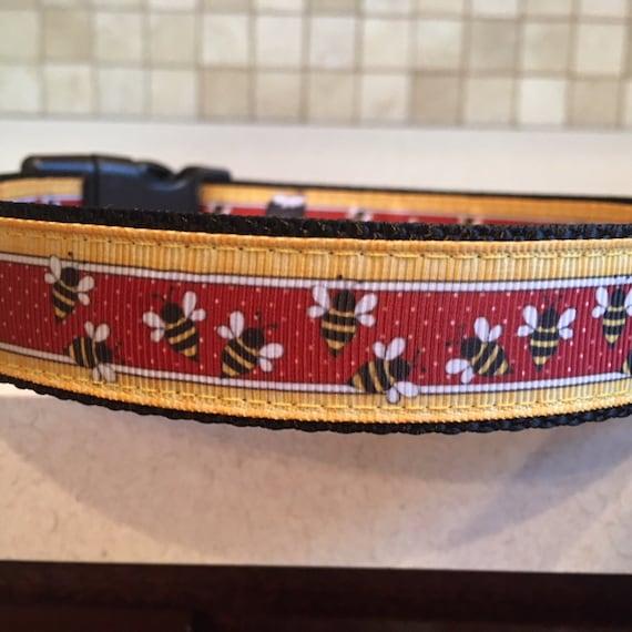 Honey Bunch Large and Medium dog collar with optional Matching  d981382bd
