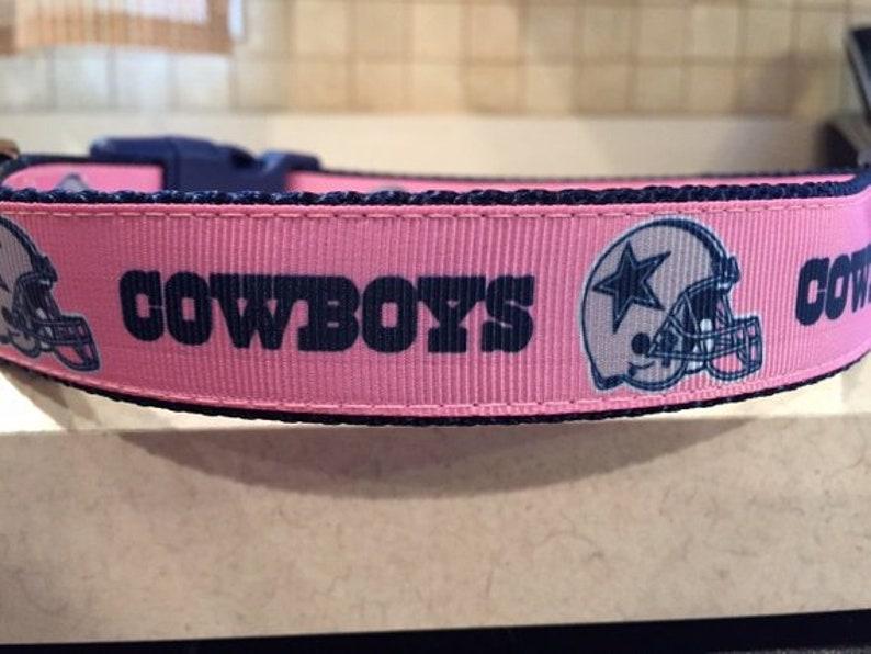 6083475c9 Dallas Cowboys Pink Female Football Sports Team Dog Collar and