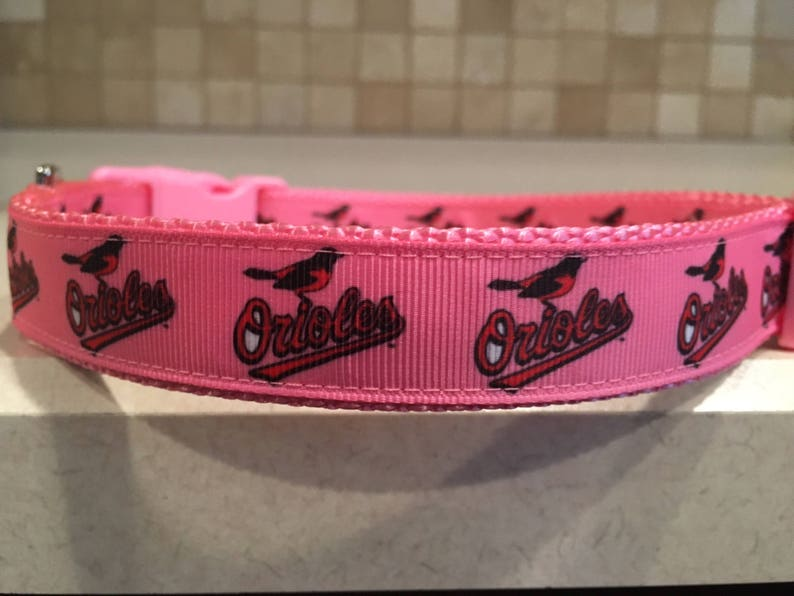 b1a9836e714 Baltimore Orioles Female Dog sports football 1 Wide Pink | Etsy