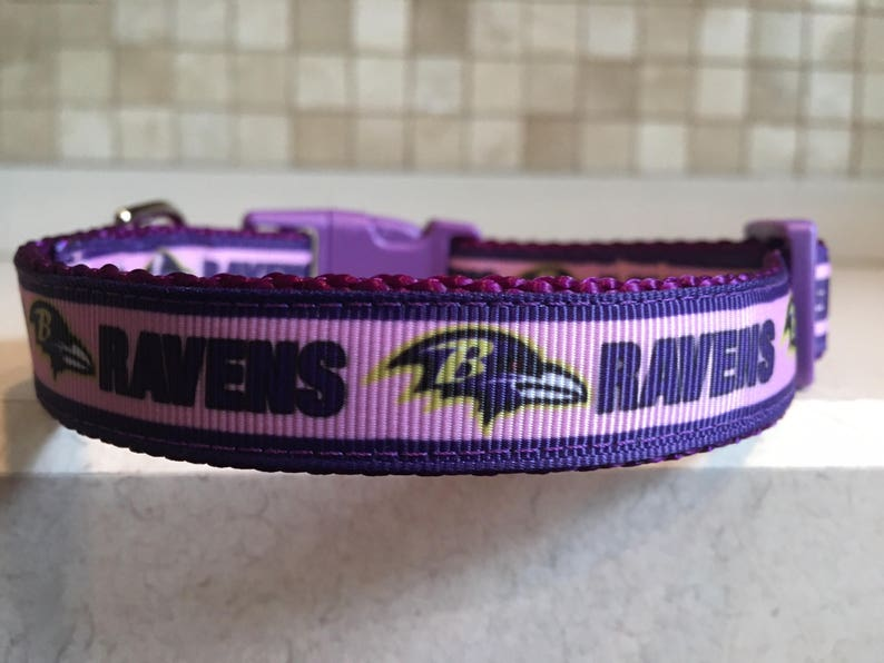 9fa88206f06 Baltimore Ravens Pink Football Sports Dog Collar and Optional | Etsy