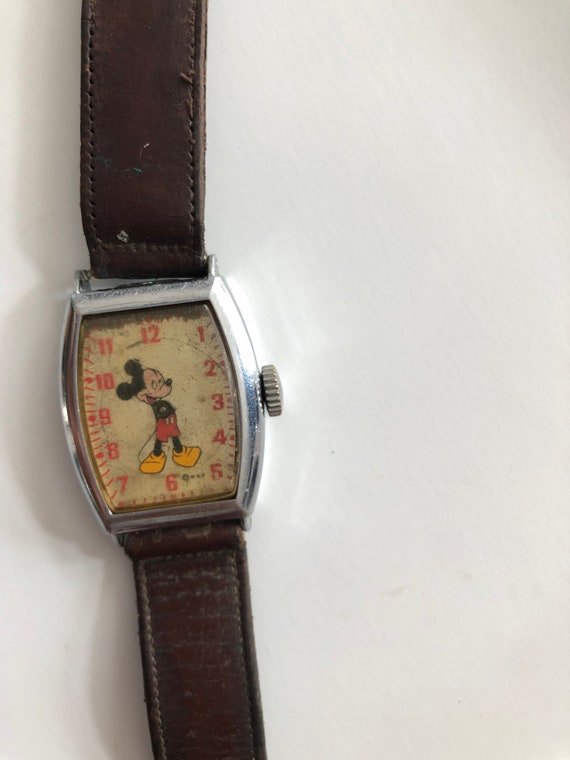 Antique US Time Mickey Mouse watch with band- miss