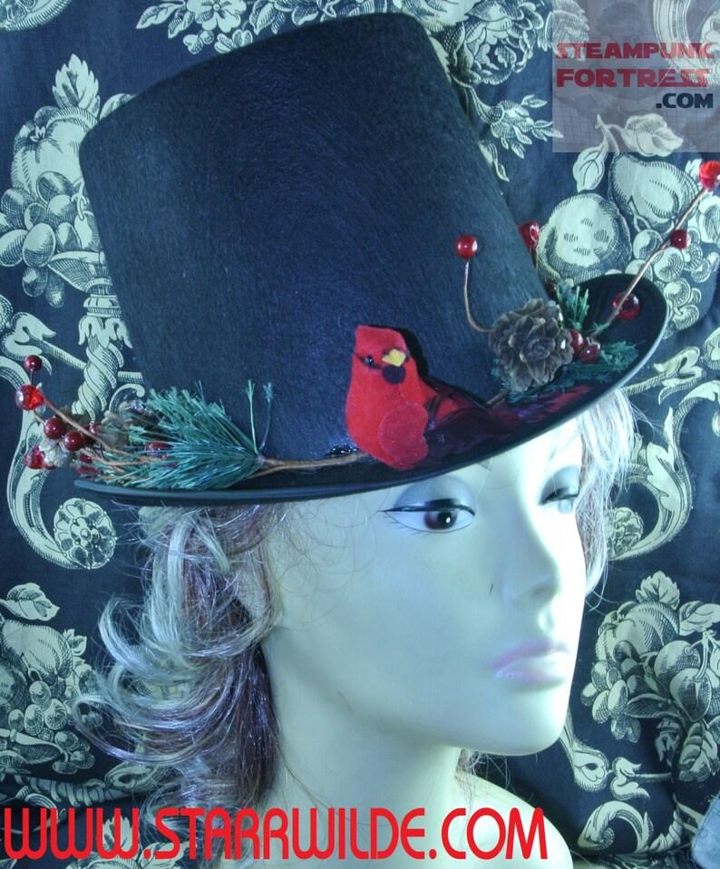 starr wilde steampunk schwarz hut weihnachten thema  etsy