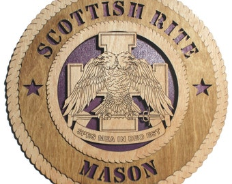Image of: Bancassurance 113 Inch Scottish Rite Mason Balic Birch Wall Plaque With Purple Background Viviana Enchantress Of Books Freemason Decor Etsy
