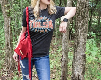Living on Tulsa Time T-Shirt - Music Lyric Shirt
