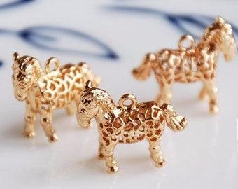 DIY Horse Charm Farm Horse Charm 3D Horse Pendant DIY Jewelry Charm Horse Charm Gold Tone Charm Walking Horse Charm Animal Charm