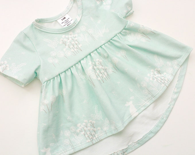 Featured listing image: Light Blue Lamb Ruffle Top