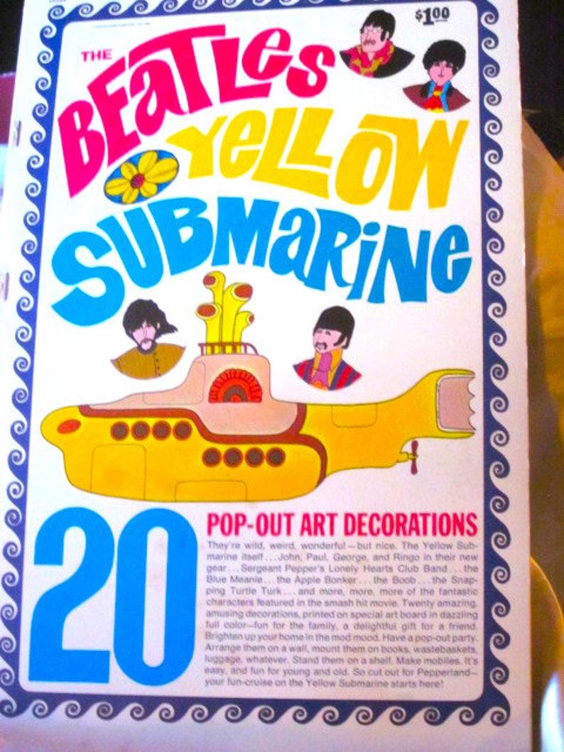 Beatles Yellow Submarine Pop Out Art Decorations 1968 Beatles Etsy
