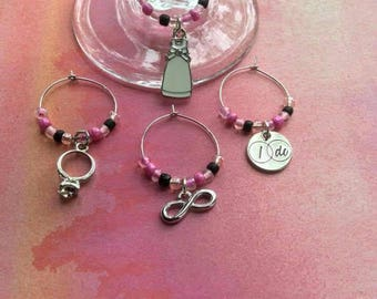 i do wine charms wedding wine charms bridal shower wine charms drink markers
